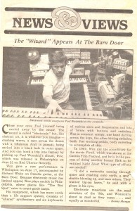 A write-up about Paul's appearance at one of the bars-- The Barn Door.