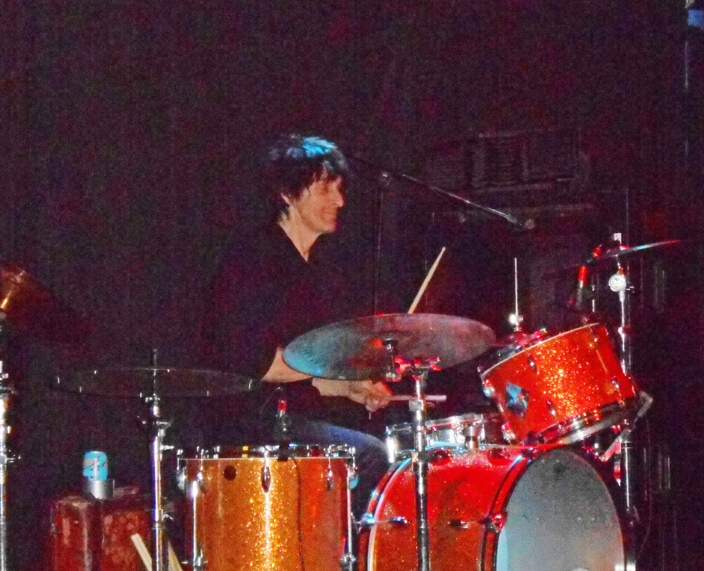 Chris Sherlock on drums.