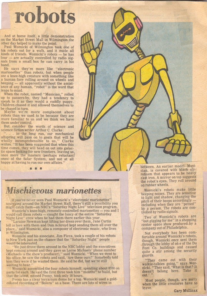 Paul's robots were written about and became more and more sophisticated.