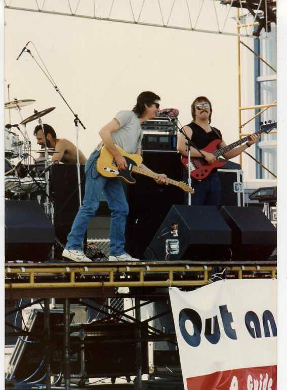 An old picture of Randy playing with Gary Watson.